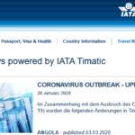 Coronavirus – verstärkt Einreisekontrollen